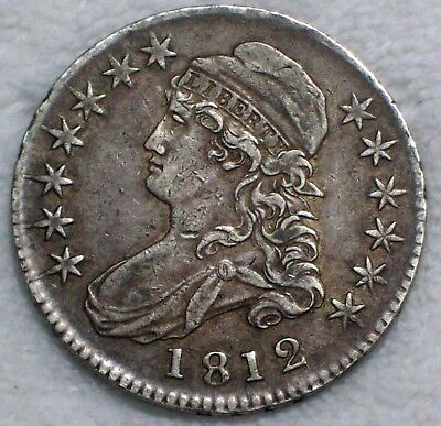 1812 BUST Half Dollar SILVER O-108 Variety XF+ AU Detailing RARE Authentic 50C