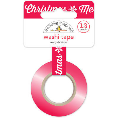 Doodlebug Washi Tape 15Mmx12yd Here Comes Santa Claus Merry Christmas WT5330
