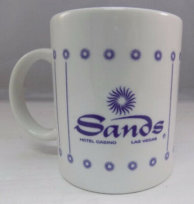 Sands Hotel & Casino Las Vegas Souvenir White Coffee Mug Tea Cup Pre-Owned D5