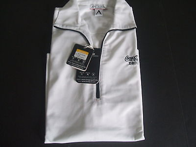 NIP Ladies  White Antigua Coca Cola Zero  Polo Shirt Small