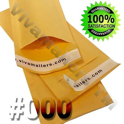 500 #000 4x8 Kraft Bubble Padded Envelopes Mailers Shipping Bags Free Shipping!!