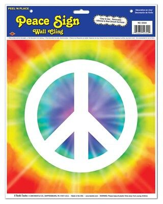 60s Peace Sign Peel And Place Sticker One Size