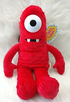 "Yo Gabba Gabba Red MUNO 18"" Soft PLUSH DOLL BACKPACK Monster Stuffed Toy B"