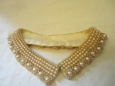 Vintage Retro Faux Pearl Beads Beaded Collar Sweater Choker Accessory Jewelry