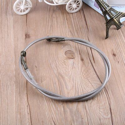 Motorcycle Braided Steel Brake Clutch Oil Hose Tube Line Pipe:SLIVER 90cm @@