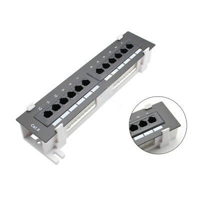 12 Port 110-Network CAT6 5 Pro RJ45 Wall Surface Mount Patch Panel Bracket