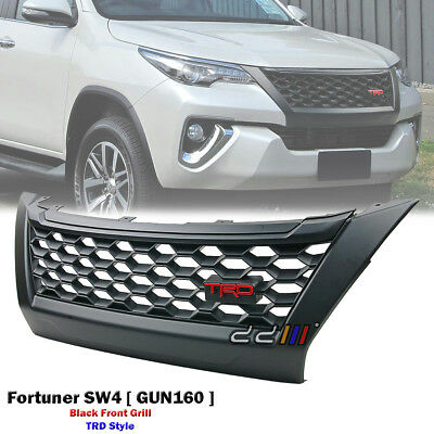 TRD Style Black Grill Grille Mask Fits Toyota Fortuner SW4 GX GXL Crusade 15-ON