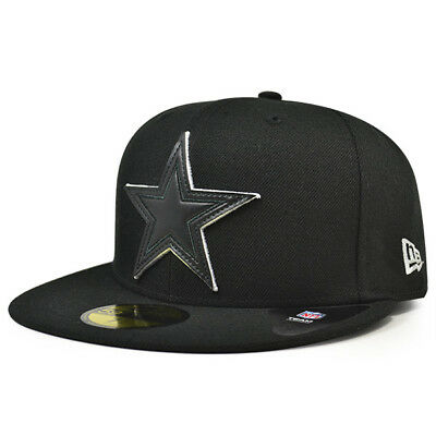 newest collection df662 0c71a Dallas Cowboys New Era NFL Leather Pop Black Fitted 59Fifty Hat