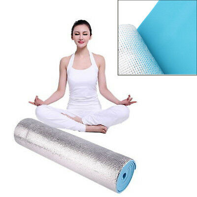 6mm Thick Non-Slip Yoga Mat Fitness Lose Weight Gym Exercise Pad Blue