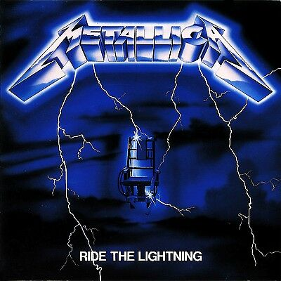 Metallica Ride The Lightning Vinyl LP Cover Sticker or Magnet
