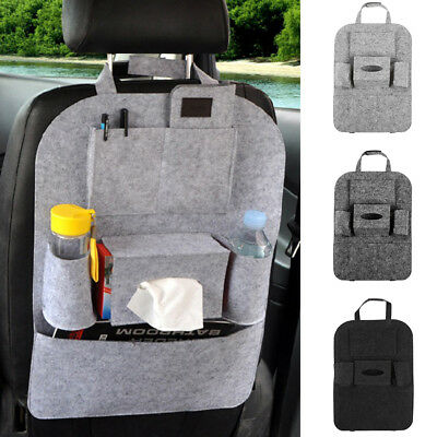 Auto Car Rear Seat Back Organizer Bag Storage Pocket Bottle Cup Holder Tidy AU