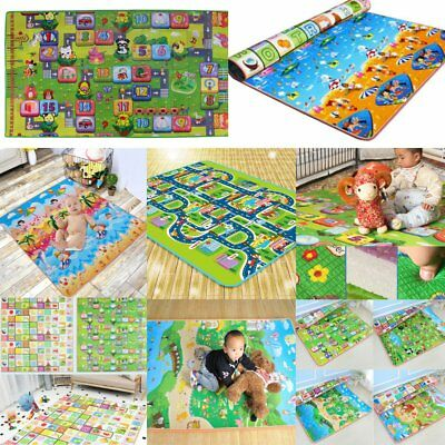 Double-Side Child Infant Baby Kids Crawling Game Waterproof Floor Play Mat Rug