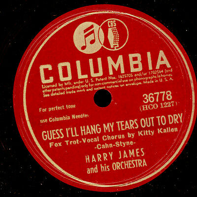 HARRY JAMES & HIS ORCH. Guess I'll hang my Tears out to .. Schellackplatte X2695