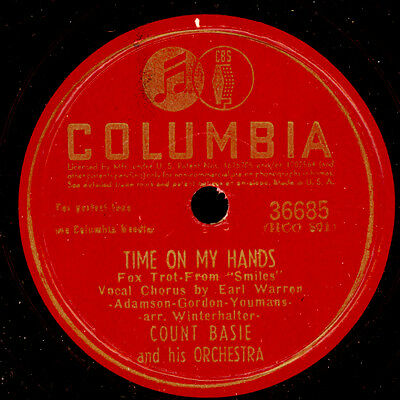 COUNT BASIE & ORCH.  Time on my Hands / For the good of your Country 78rpm X2694