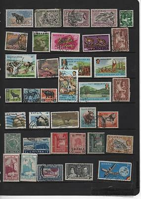 Africa stamp selection