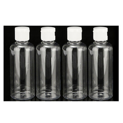 4x 100ml Plastic Flip Bottles Travel Shampoo Lotion Cosmetic Container R6P5