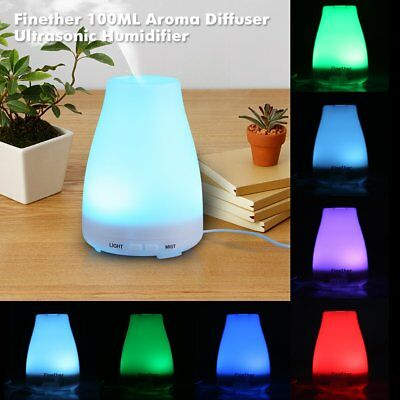 100ML Electric Oil Essential Burner Aroma Diffuse Humidifier Air Purifier LED H