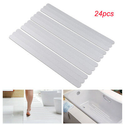 24x Anti Slip Bath Grip Stickers Non Slip Shower Strips Pad Floor Safety Tape