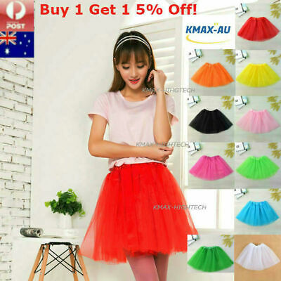 Womens Adults Girls Dance Tutu Skirt Ballet 3 Layer Layered Pettiskirts Costume