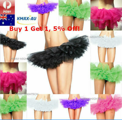 Womens Adults Girls Dance Tutu Skirt Ballet 5 Layer Layered Pettiskirts Costume