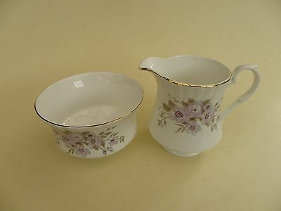 Royal Stafford Bone China, Floral Milk Jug & Open Sugar Bowl.