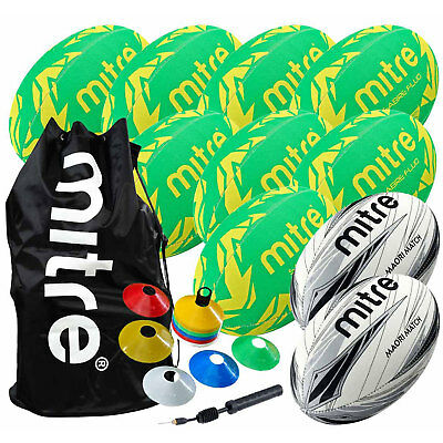 Mitre Rugby Club Pack including Cones, Pump, Bag, Training and Match Balls