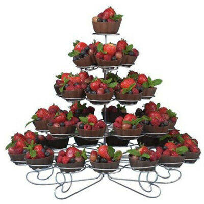 1pc Charmed 4 Tiers Cupcake Stand Holds 23 Cup Cake Home Party Holder Stand Rack