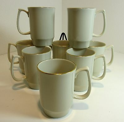 8 Pickard China COFFEE Tea COCOA MUGS Ivory & Gold ~~ Compliments Many Patterns
