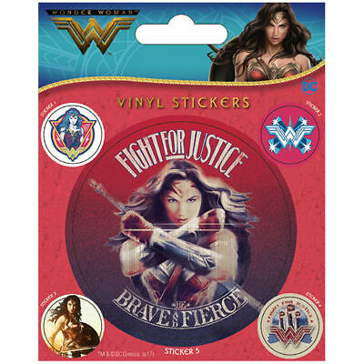 Wonder Woman Fight For Justice Sheet Of Vinyl Stickers Self Adhesive Dc Diana