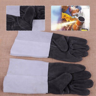Pair TIG Welding Leather Gloves Heat Shield Cover Welder Guard Protection Safety