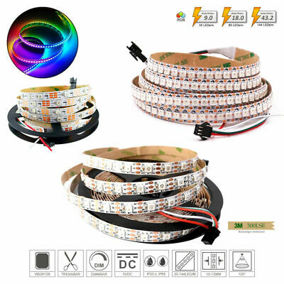 ✅ 1m 5m RGB WS2812B LED Digital Streifen 5V IP30 - SMD5050 / WS2811 IC - Strip e
