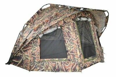 MK Angelsport Fort Knox Nature Pro Dome 2 Mann Angelzelt Karpfenzelt Bivvy Zelt