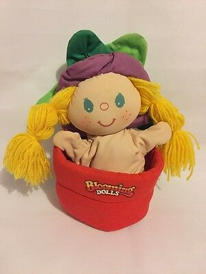 Vintage Blooming Dolls, Transforming Doll Hand Puppet, Cap Toys 1987, Soft Toy