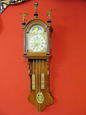 old wall clock  Friesen  wiht  moopfase