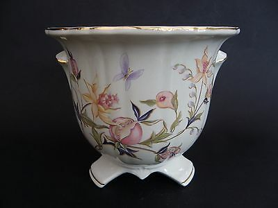 """Royal Winton Footed Plant Pot Holder, Floral Pattern, 5"""" tall x 5.5"""" across rim."""