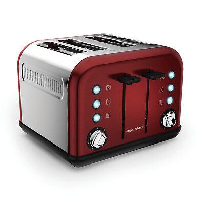 Morphy Richards 242030 Accents Red 4 Slice Toaster