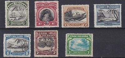 Cooks Islands 1944 - 46    S G 137 - 148     Various Values To 3/-  Mh  Cat £84