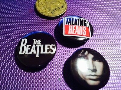 Three Rock Music Metal Button Badges (I)