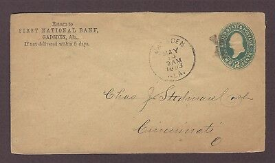 mjstampshobby 1893 US Famous First National Bank Vintage Cover Used (Lot4857)