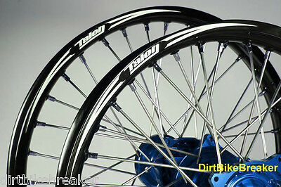 "Yamaha YZ 250 2002-2019 TALON BILLET EVO WHEELS Front 21"" Rear 19"" BLUE/BLACK"