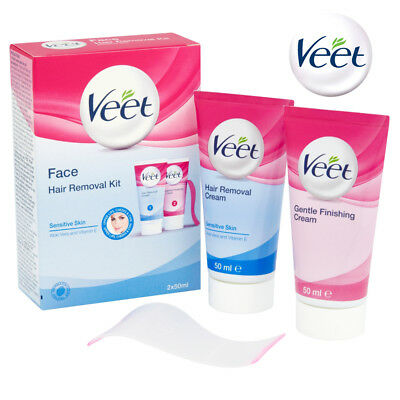 Veet Facial Hair Remover Kit for Sensitive Skin With Aloe Vera 50ml