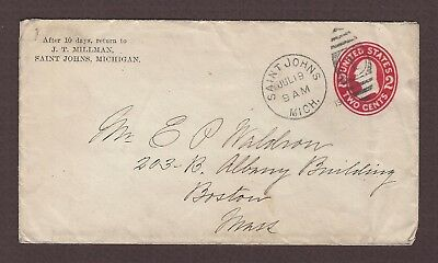 mjstampshobby 1910 US Vintage Cover Used (Lot4866)