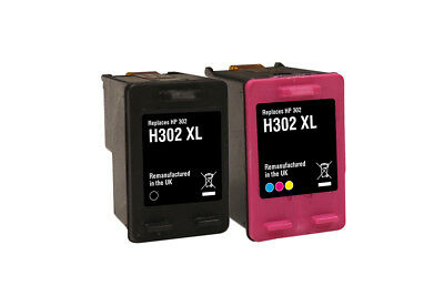 Red Bus - HP 302XL Black & Colour Recycled Ink Cartridge Combo Pack