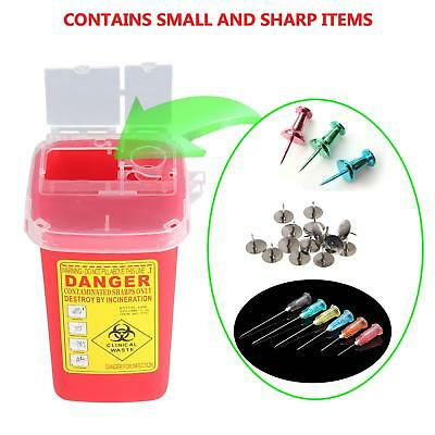 Medline Sharps Container Biohazard Disposal Needle Case Garbage Bin Storage 1L