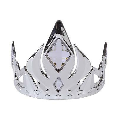 FANCY DRESS Silver Crown Tiara with Clear Stones