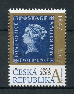 Czech Republic 2017 MNH Mauritius Blue 1847 Prague 2018 1v Set Stamps on Stamps