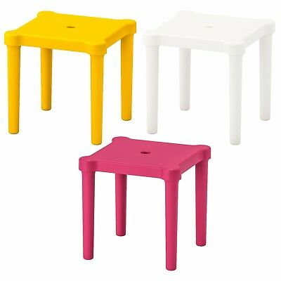 UTTER Childrens Stool Flatpack Indoor/Outdoor Plastic Screw in Legs IKEA