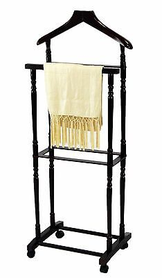 Frenchi Home Furnishing Men Suit Valet Stand with Suit Hanger, Espresso , New, F