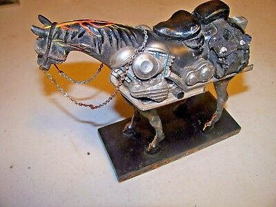 """Motorcycle Mustang"" Trail of Painted Ponies #1450"