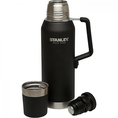 Stanley Master Series Flask 750ml 1.3L Black Robust Tough Insulated Hot Cold Ice